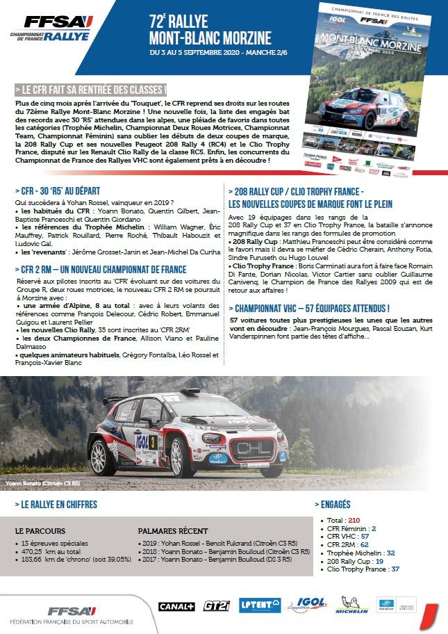 Rallye Mont Blanc Morzine. Isabelle GARREAU, Présidente du Comité d'organisation.